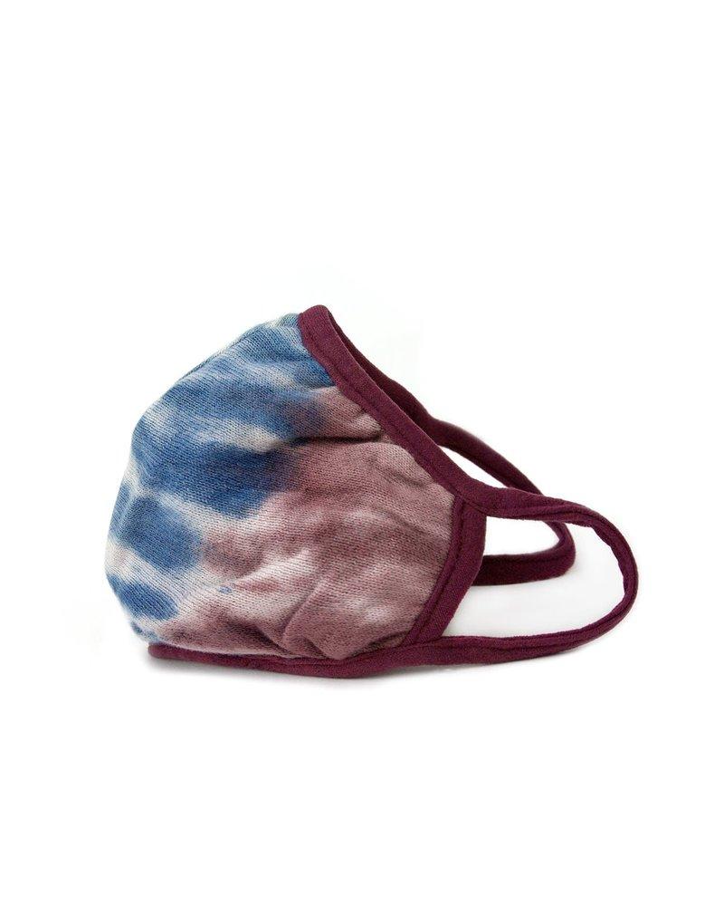 Marlyn Schiff Adult Knit Mask Maroon Blue Tie Dye