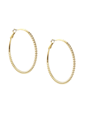 Marlyn Schiff 1100E Gold Large Ball Hoop