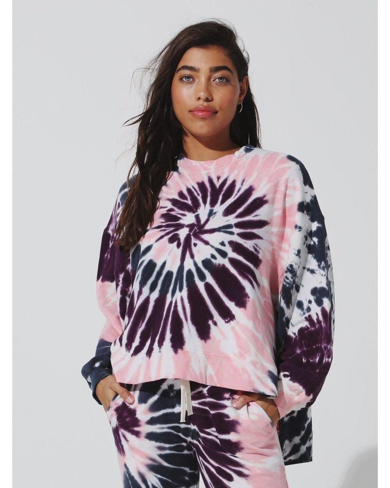 Electric & Rose Neil Sweatshirt Wave Blush Aubergine F20