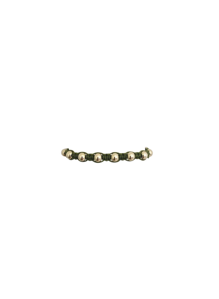 Karen Lazar Olive Macrame with Yellow Gold Filled Beads