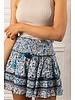 Poupette St Barth Mini Skirt Ruffled White Navy Celery R21