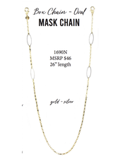 Marlyn Schiff Box Chain - Oval Mask Chain 1690N Gold-Silver