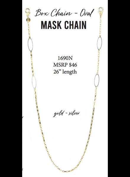 Marlyn Schiff Box Chain - Oval Mask Chain 1690N Gold-Silver