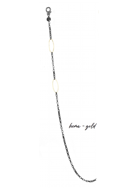 Marlyn Schiff Box Chain - Oval Mask Chain 1690N Hema-Gold