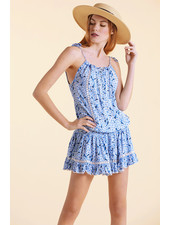 Sunday St Tropez Creasy VI IND Dress Flower Blue R21