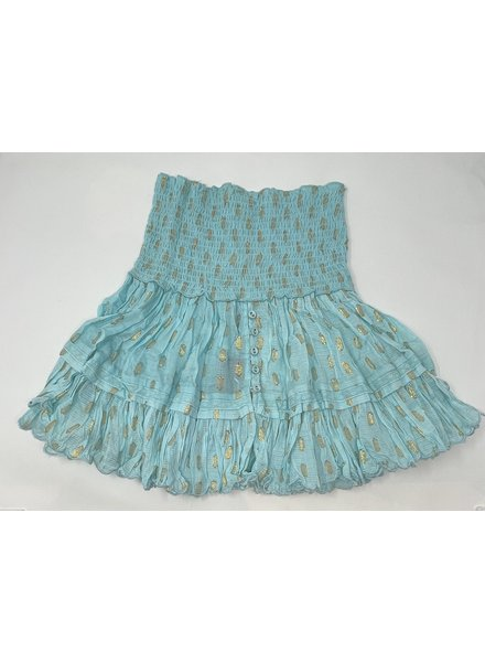Sunday St Tropez Pomponette VI Pepite Skirt Turquoise R21