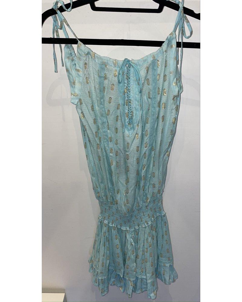 Sunday St Tropez Creasy VI Pepite Dress Turquoise R21