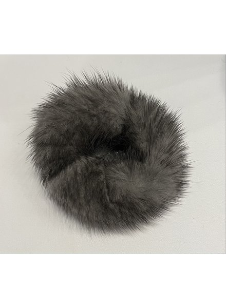Linda Richards HT-04 Mink Scrunchie Charcoal