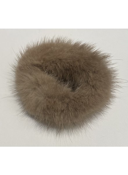 Linda Richards HT-04 Mink Scrunchie Taupe