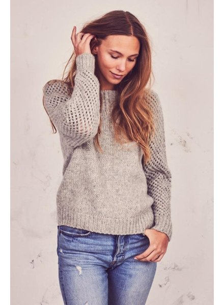 Love Shack Fancy Rosie Pullover Grey F20
