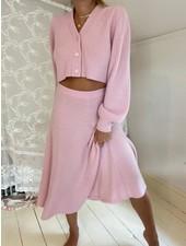 Love Shack Fancy Avignon Cropped Cardigan Pink R21
