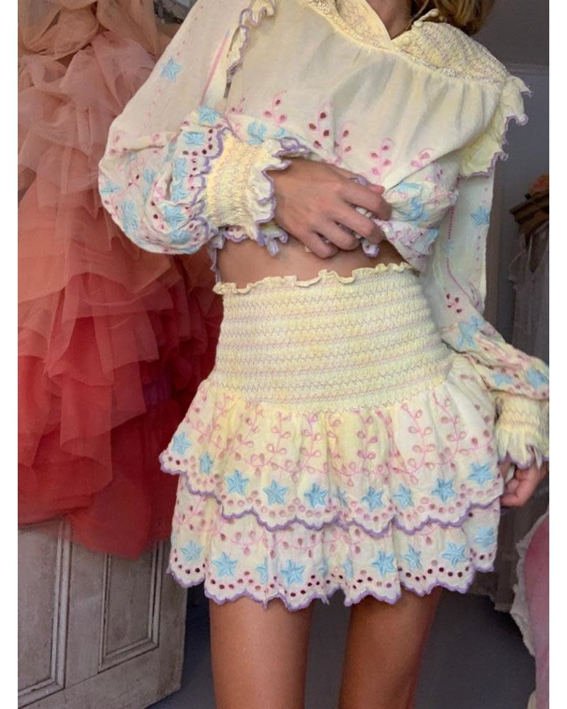 Love Shack Fancy Nathan Skirt Rise and Shine R21