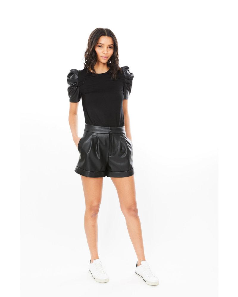 Generation Love Penny Vegan Leather Top Black R21