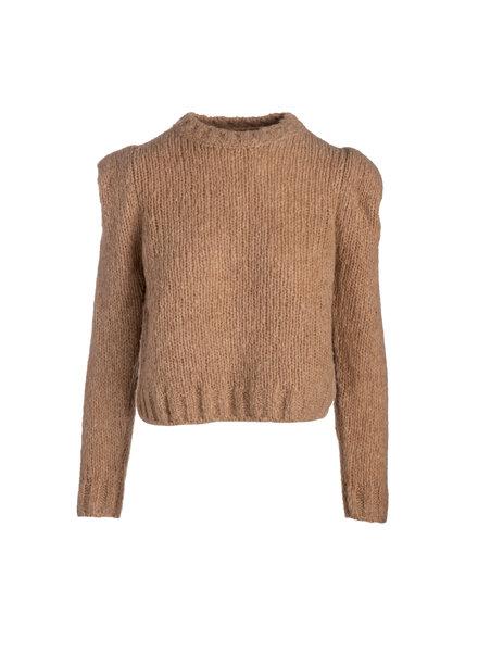 Naadam Structured Shoulder Sweater Camel H20