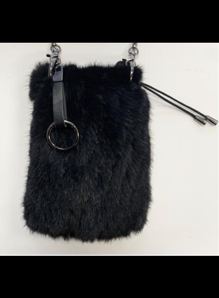 Linda Richards BG-946 Knit Mink Mobile Bag