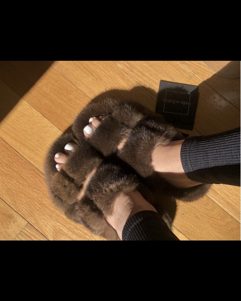 Linda Richards Mink Full Skin Slides Brown MKS-01  F20