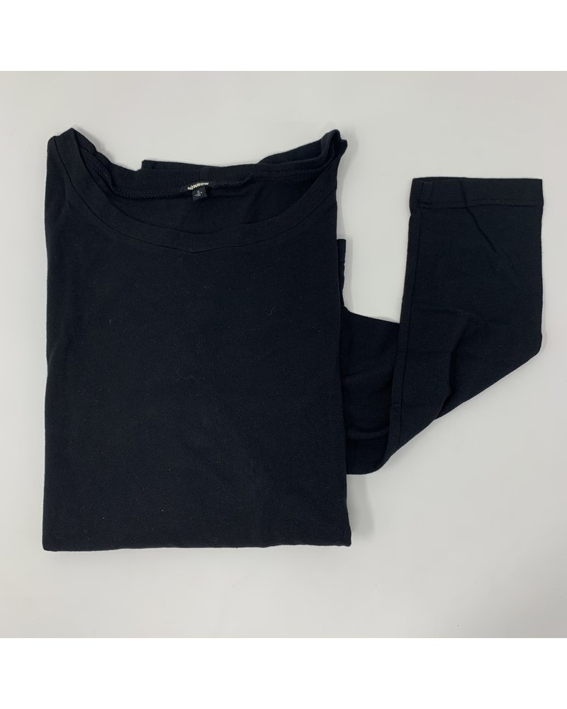 Monrow Slouchy Top Black H20