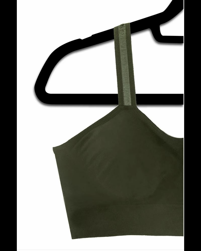 Strap-Its Olive Bra Sheer Strap