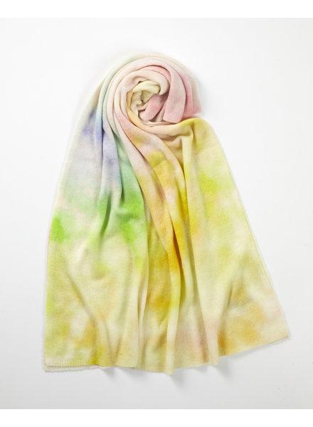 Brodie California Travel Wrap Organic White Tie Dye Print Lemon, Mint, Arctic Blue SS21