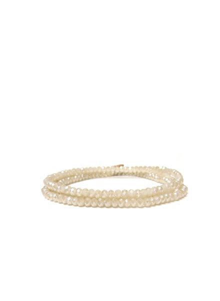 Marlyn Schiff Mini Beaded Stretch Bracelet Champagne