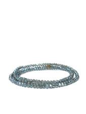 Marlyn Schiff Mini Beaded Stretch Bracelet Blue