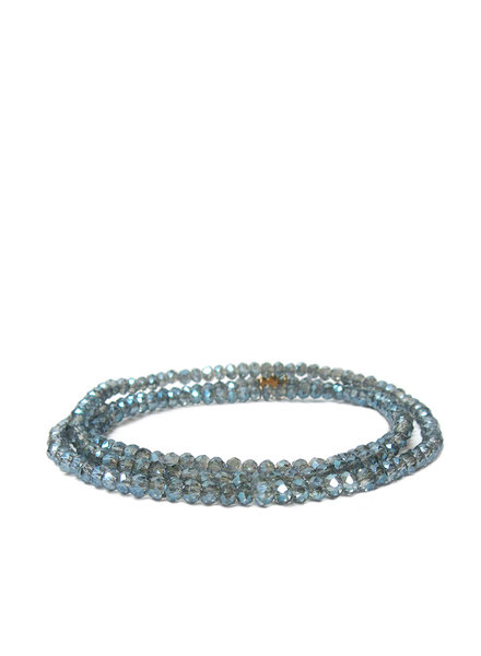 Marlyn Schiff Mini Beaded Stretch Bracelet Blue