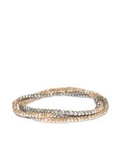 Marlyn Schiff Mini Beaded Stretch Bracelet Taupe Grey
