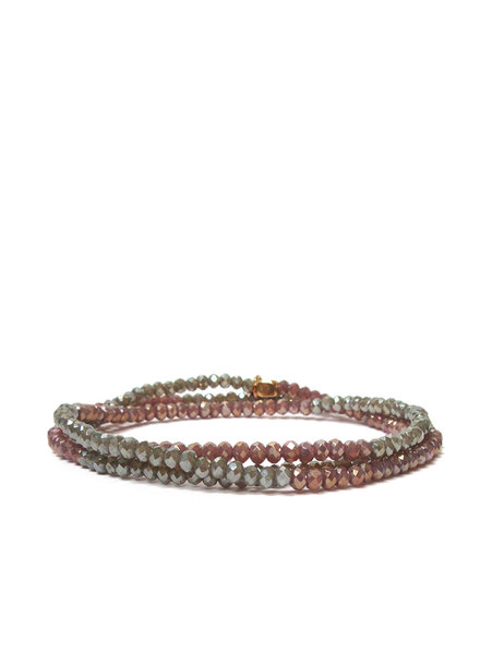 Marlyn Schiff Mini Beaded Stretch Bracelet Grey Multi