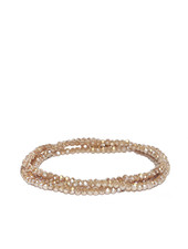 Marlyn Schiff Mini Beaded Stretch Bracelet Taupe