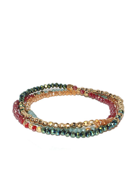 Marlyn Schiff Mini Beaded Stretch Bracelet Bright Multi