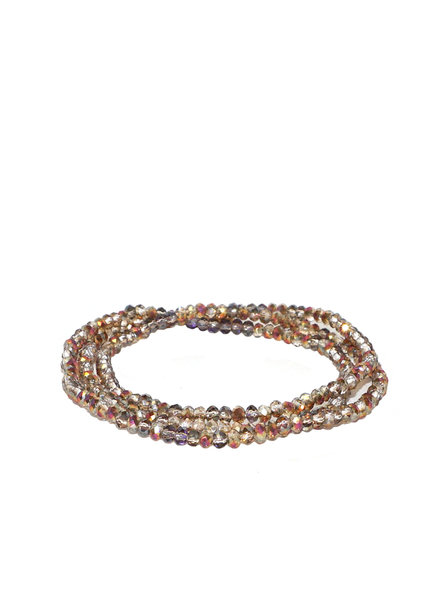Marlyn Schiff Mini Beaded Stretch Bracelet Rose Ab