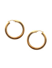 """Marlyn Schiff 0330E Gold 1 3/4""""  Hollow Clasp Hoop"""