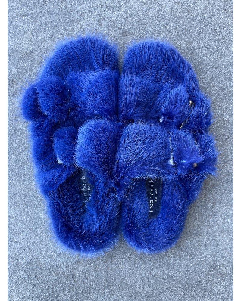 Linda Richards Mink Full Skin Slides Blue MKS-01  F20