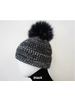 Linda Richards HA-63 Angora/Tweed Pom Hat Black