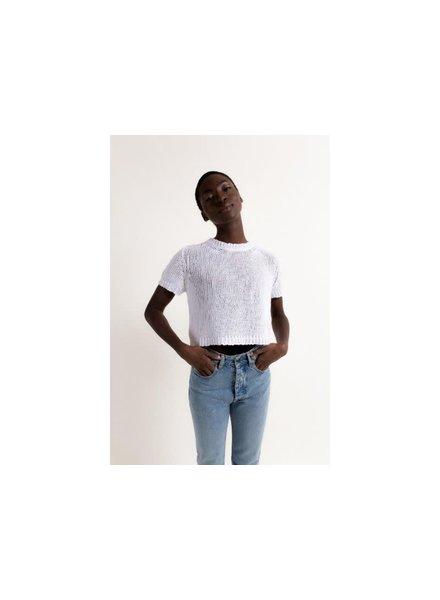 Christina Lehr Emmer Short Sleeve Sweater White S21