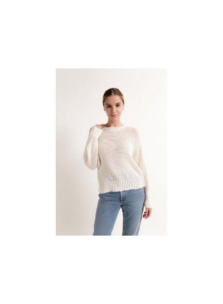 Christina Lehr Tiffany Long Sleeve Sweater Ivory S21