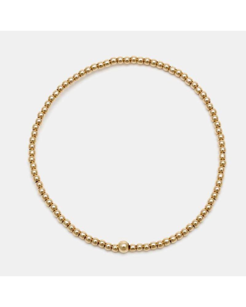 Karen Lazar 2mm beaded bracelet
