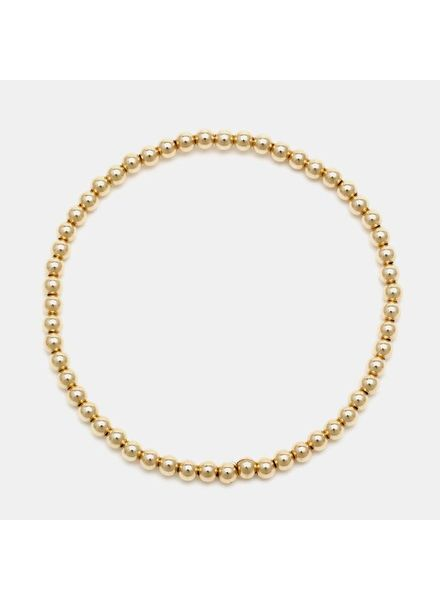 Karen Lazar 3mm Yellow Gold Beaded Bracelet