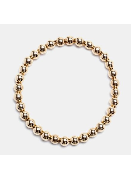 Karen Lazar 5mm Yellow Gold Beaded Bracelet