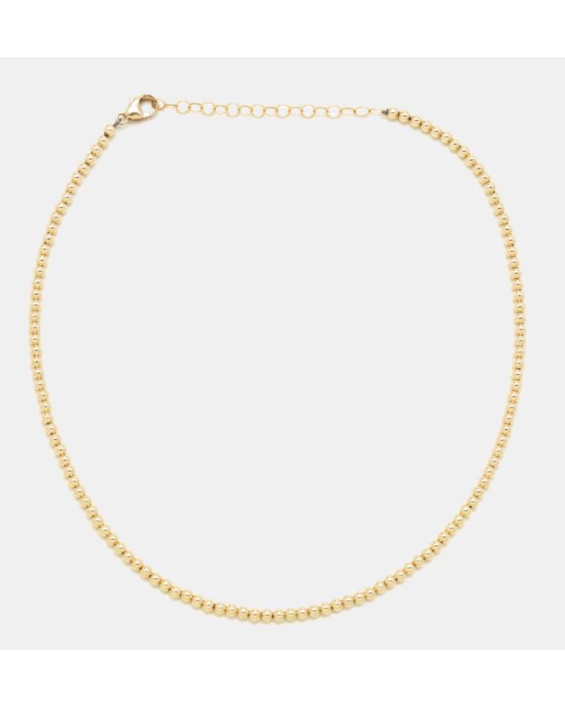 Karen Lazar 3mm Beaded Necklace