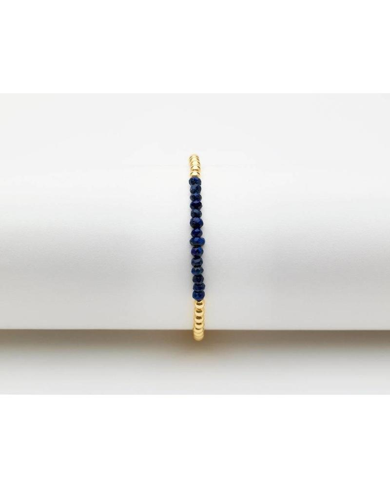 Karen Lazar 3mm yellow gold gemstone bracelet