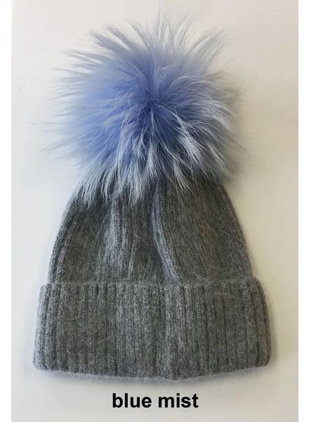 Linda Richards HA 62GRY Pom Pom Hat