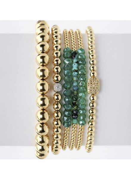 Karen Lazar 2mm Yellow Gold Gemstone Bracelet
