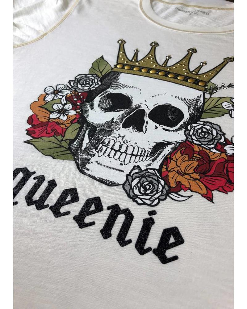 Unsweetened NY Queenie Off White Tee F18