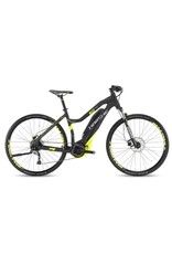 "HaiBike 2017 Haibike SDuro Cross Lo-Step 4.0 28""/700 Electric MTB Hybrid Bike Black/Yellow 48cm/SML *ON SALE*"
