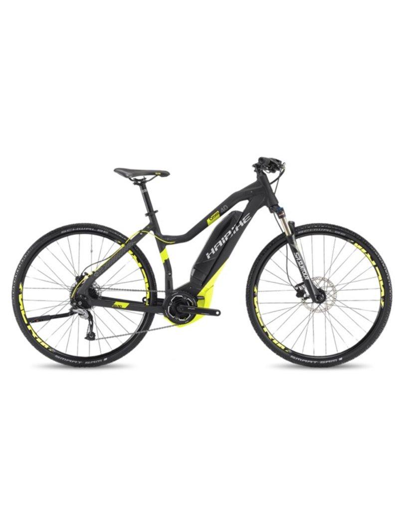 """HaiBike 2017 Haibike SDuro Cross Lo-Step 4.0 28""""/700 Electric MTB Hybrid Bike Black/Yellow 56cm/LRG *ON SALE*"""