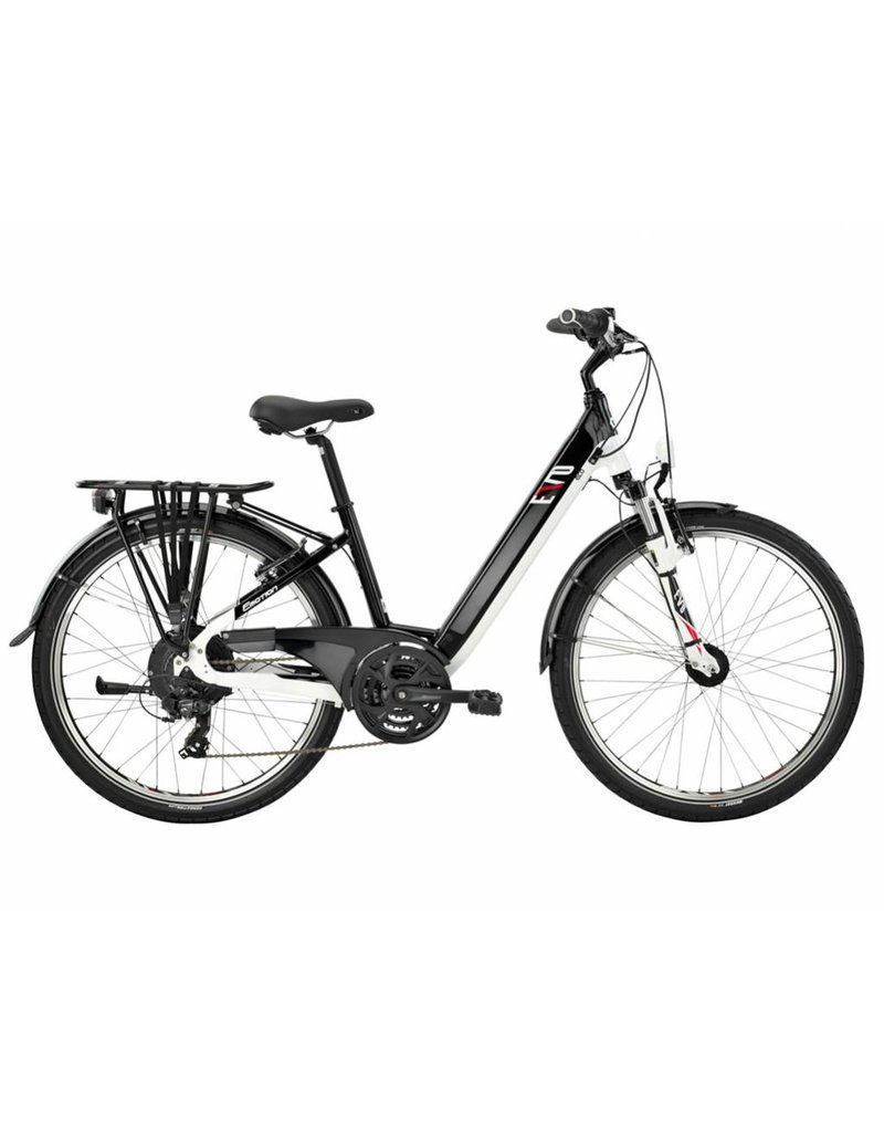 "Easy Motion Easy Motion EVO Eco 26"" Electric Step-Thru Bike Gloss BLACK/White MD"