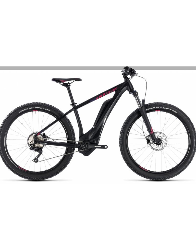 Cube 2018 Cube Access Hybrid Pro 500 Electric Women's HT MTB Bike Black n Berry 16 *ON SALE*