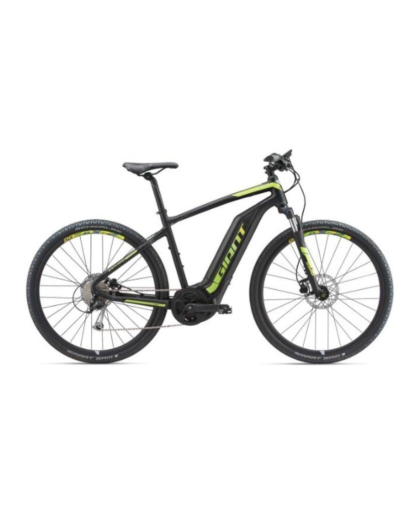 Giant 2018 Giant Explore E+ 3 Electric MTB Hybrid Bike Black/Lime LRG *ON SALE*