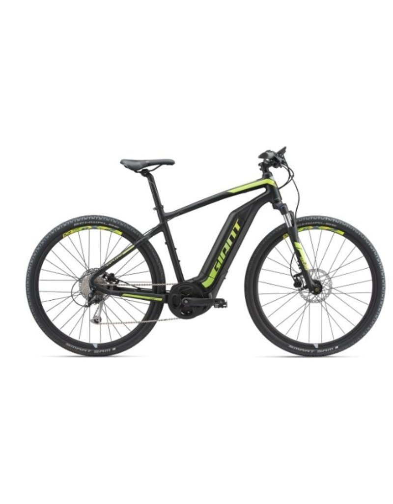 Giant 2018 Giant Explore E+ 3 Electric MTB Hybrid Bike Black/Lime MD *ON SALE*
